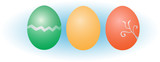 Easter eggs vector illustration