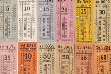 Assortment Of Old Bus Tickets