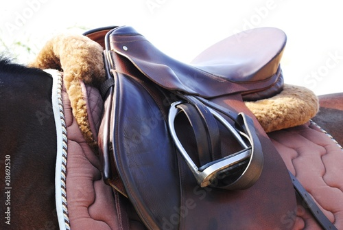 Horse saddle and tack