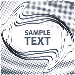 Abstract grey template with copy space. Vector