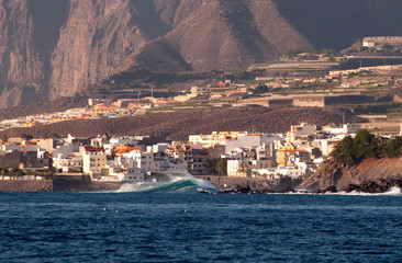 Big waves on Tenerife, Canary islands