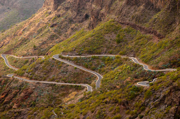 Mountain road at Tenerife, Canary Islands