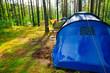 Campsite after rain