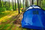 Campsite after rain poster