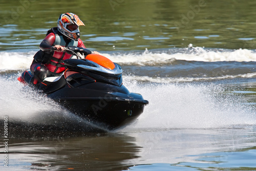 Deurstickers Water Motorsp. High-speed jetski