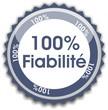 bouton 100% fiabilité