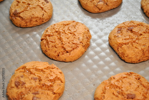 Cookies on a Baking Pan
