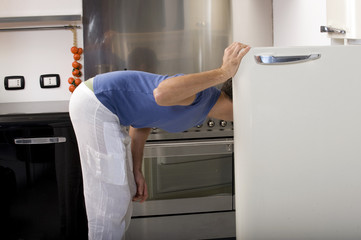 man opening the refrigerator