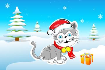 cheerful merry christmas card