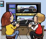 Car racing videogame poster