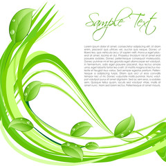 nature card with sample text