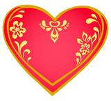 Valentine heart, pictogram poster