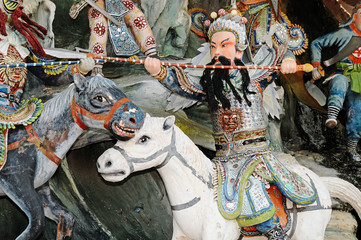 Chinese Mythical Warrior On Horseback