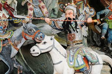 Chinese Mythical Warrior On Horseback