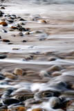 abstract rocks and water on the shoreline