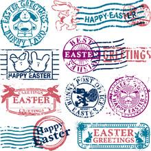 Wielkanoc stempla pocztowego
