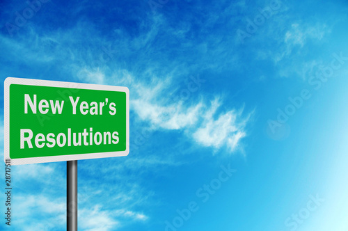 'New Year's Resolutions' photo realistic sig with space for your