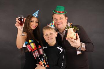Frohes neues Jahr - Familie