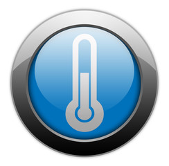 "Metallic Orb Button ""Temperature / Thermometer"""