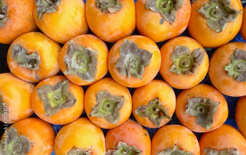 organic persimmons at the farmer's market