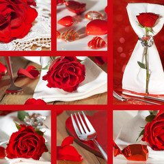 Collage with place settings