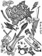 Rock star hand drawings