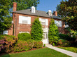 Georgian Colonial Style Brick Single Family House Washington DC