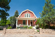 Dutch Colonial Clapboard House Home Santa Fe, New Mexico