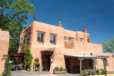 Fototapety Modern Adobe Restaurant in Santa Fe, New Mexico, United States