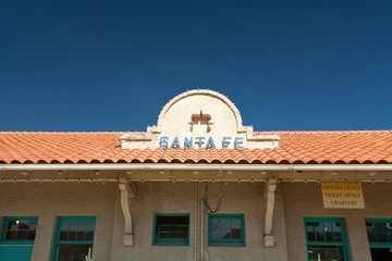 Roof Sign for Santa Fe New Mexico Train Station United States