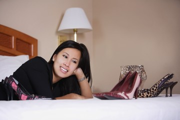 Woman Enjoying Her Shoes