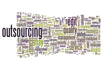 """Word Cloud """"Outsourcing"""""""