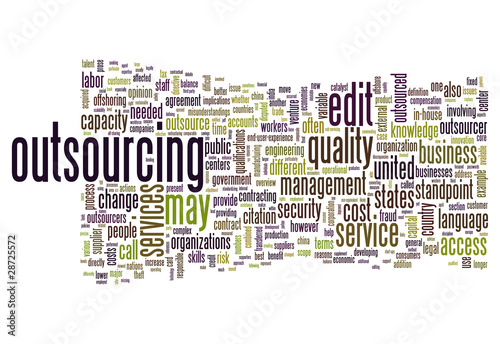 "Word Cloud ""Outsourcing"""