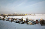 Scenic winter view of Nizhny Novgorod, Russia. poster