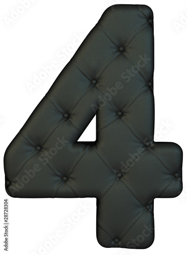 Luxury black leather font 4 figure