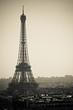 Eiffel Tower Hazy