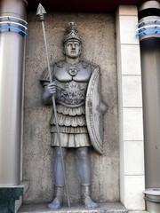 sculpture of legionary