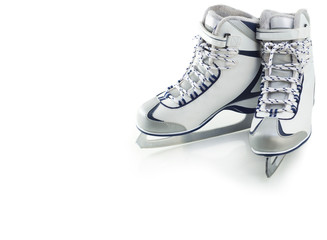 Pair of figure skates for ice skating