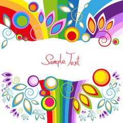 abstrakt - regenbogenfarben - freie fläche