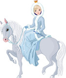 Fototapeta koń - zima - Kobieta