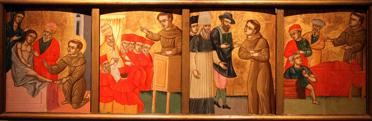 Scenes from the life of St. Anthony of Padua