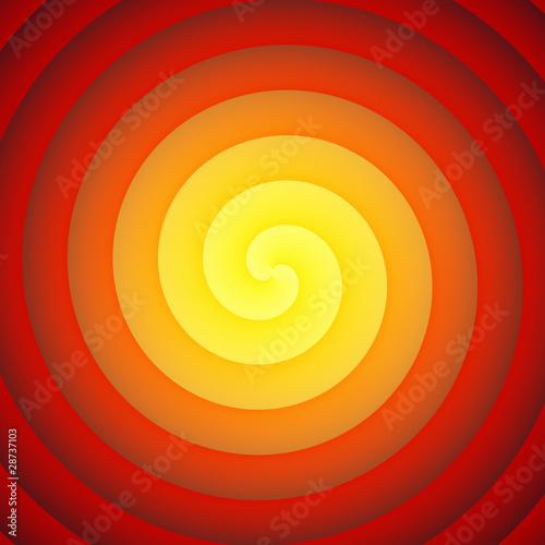 Plexiglas Spiraal Feuer Reinkarnation - Orange Rot 03