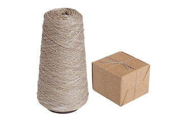 Packing box and thread