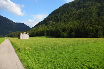 Bavaria Bayern mountain Berge meadow in Germany