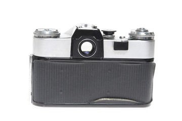 Old camera isolated on white background