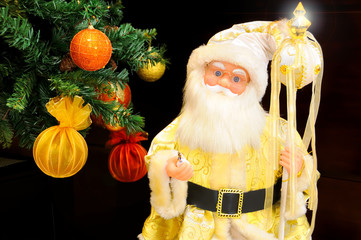 Golden Santa Claus