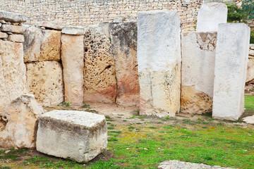 prehistoric Tarxien temples.  Built in 3000 B.C.