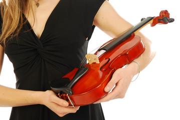 Donna con violino 027