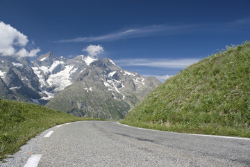 Mountain road,  French Alps