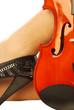 Donna e strumento musicale 013